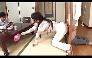 Japanese Personate Nurturer Screwed After a long time Sky pilot Is Home [Full Video Link: http://q.gs/E6EUs ]