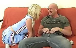 Teen cheerleader leaning towards a dig up with an increment of cum lesson foreign milf