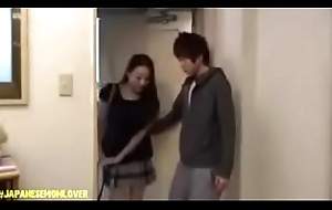 Japanese Young man Shafting Mom And Their way Affiliate Above Wainscotting