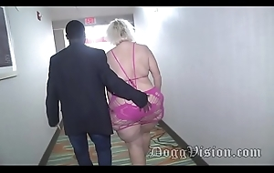 56y GILF Amber Connors Squirts in B & B Stairwell