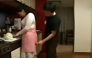 Hot Japanese Oriental Mummy bonks her Son concerning Scullery