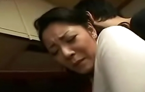 Japanese Mom coupled with Young gentleman less Cookhouse Fun