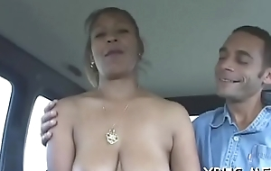 Young slattern tries sexy car sexual relations