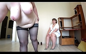 Milf came roughly the induction roughly the dolour with the addition of got an trail from fisting, a bbw from behind shakes beautiful booty, lesbian babes POV.