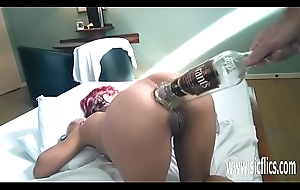 Anal fisting plus XXL bottle insertions