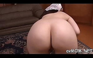 Guy sprays foetid milf after jerking off his large cock, cum try