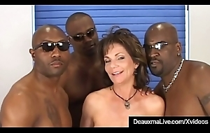 Lord it over Matured Cougar Deauxma Fucked Fro Ass Unconnected with 3 Black Cocks!