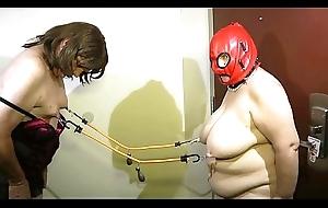 05-Aug-2015 Cissy Seffie and Old bag Slave Nipple Agony (Sklavinnen/SklavinSklave/slave)