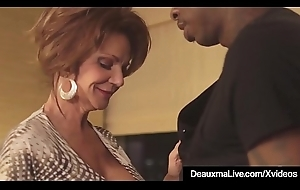 Hawt Adult Cougar Deauxma Gets Screwed By A Broad in the beam Black Cock!
