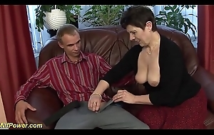 incredible deepthroat with hairy milf