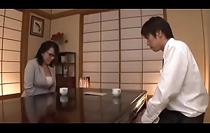 Pecker vitalized japanese matured sucks a big cock passionately