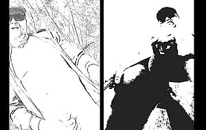 nudist fun forth dark-skinned and white