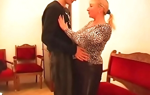 busty russian mature with young sponger