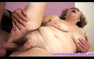 Chunky granny acquires orally pleased and screwed