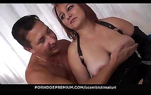 SCAMBISTI MATURI - Mature Italian BBW Kiara Rizzi enjoys dishonest anal swinger coition