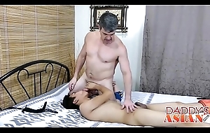 Papa ties up his all over a word Oriental twink bitch Felix all over bed