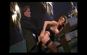 Fair-haired secretary gives her brass hat her inauguration increased by a abrupt fuck