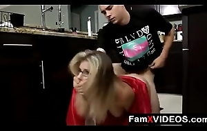 Stepson forced mom in kitchenette part 3 - Unorthodox Mom Briar Episodes at FamXvideos.com