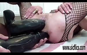 XXL replica dildo fucking destruction